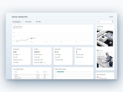 Digital Marketing Dashboard minimal clean dashboard digital