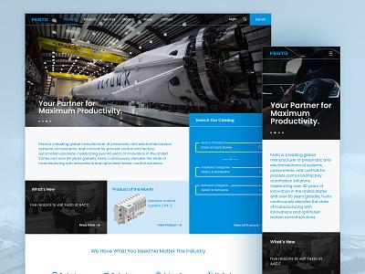 Festo Redesign madewithxd mobile desktop homepage modern catalog digital technology redesign corporate ux xd adobe ui