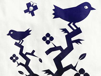 Austra Poster custom type gig poster screen print typography oaxaca birds poster illustration