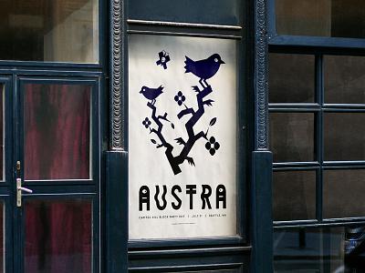 Austra Poster bird illustration typography design poser austra