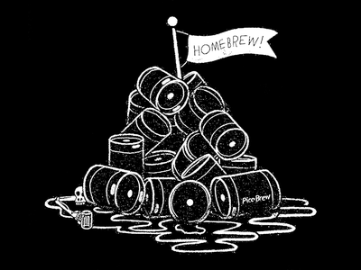 Homebrewer Hoodie seattle picobrew keg flag typography hand drawn craft beer homebrew skull beer skeleton illustration