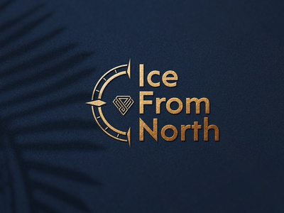 Ice From North Logo explorer logo typography logo diamond diamond logo jewerly navigation compass logo compas north iceland ice logo design branding logo