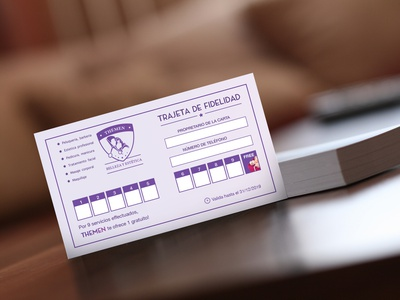 Loyalty card design card flyer design branding violet print design spanish purple loyalty card