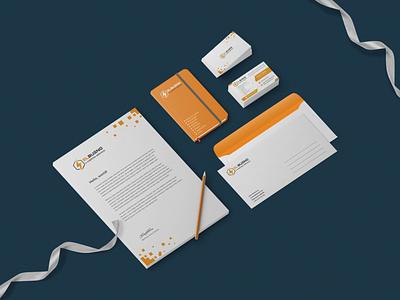 Company branding - Stationery logo letterhead envelope design business card logo design orange brand identity brand design branding stationery mockup stationery design stationery