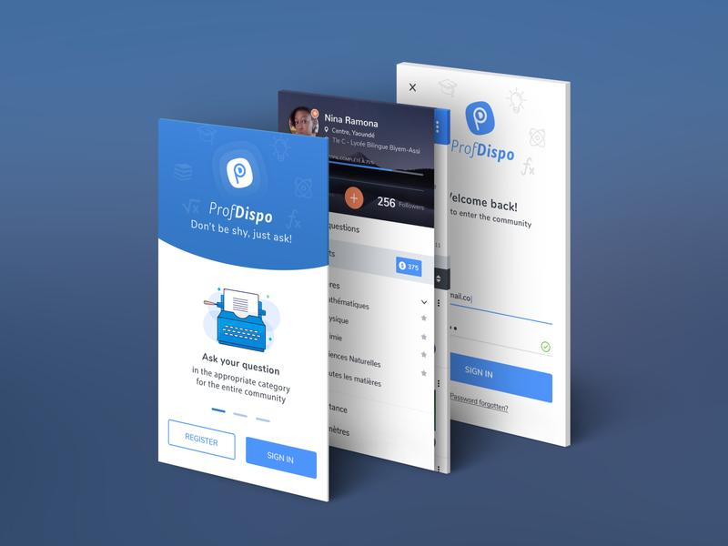 Perspective App Screens ui app design app school app blue mobile app app mockup 3d app screens 3d app screens app screens mobile app design mobile app