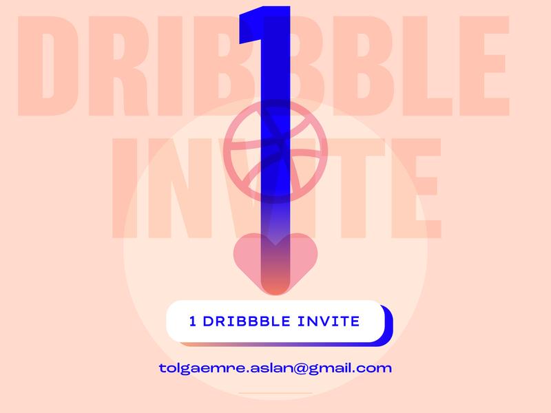 Dribbble Invite vector invites web typography poster landing love debut illustration typo dribbble invitation invite