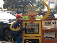 My daughter's friend- a newspaper box