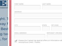 User Info Form