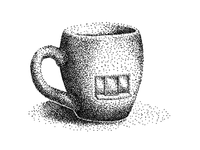 Stippled Drive Thru Mug