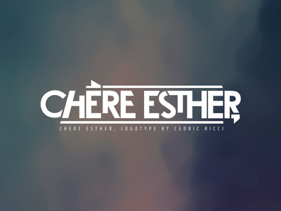 Chere Esther, logotype music band visual identity chere esther