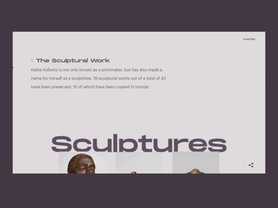 Draw Section | Käthe Memorial ux animation typography uidesign website