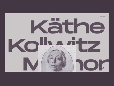 Käthe Kollwitz Memorial design typography web ux uidesign website
