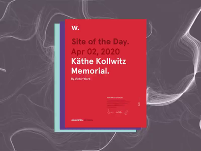Käthe Memorial | Awwwards Certificates web uidesign ux website