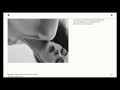Impermanence — Photographed by Roger Mac typography ui web ux uidesign website