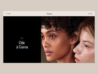 Lookbook | Garoa SkinCare minimal animation typography ui web ux uidesign website