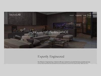 Transition Pages | InteriorLAB™ animation minimal ui web uidesign ux website