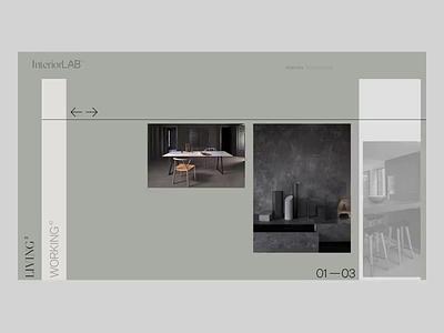 Home Page | InteriorLAB™ animation minimal typography ui web ux uidesign website