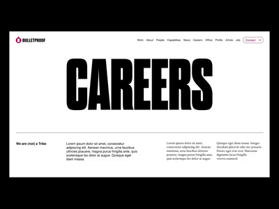 Page Transitions | BulletProof™ typography animation ui web ux uidesign website