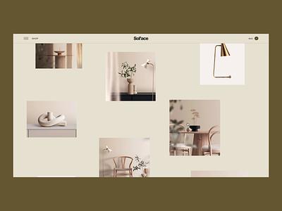 Lookbook | Sol'ace Store animation typography ui ux web uidesign website