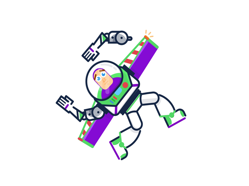 Buzz Lightyear Icon: To The Infinity And Beyond! By Valéria Romano On Dribbble