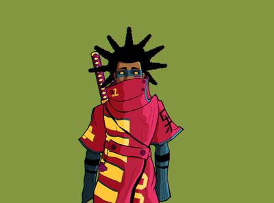 Echo The Samurai samurai vector kidando
