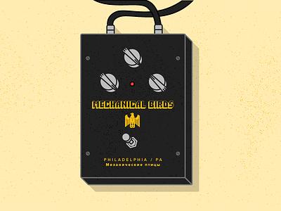 Mechanical Birds Big Muff big muff phldesign print vector illustration guitar pedals