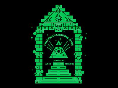 PHLDesign Shadow Zone philly vector illuminati secret society illustration phldesign