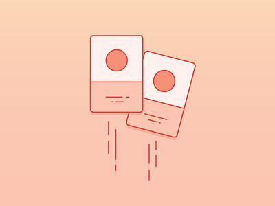 Cards gradient vector illustration card storing card