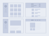 Portfolio Wireframe Sketches