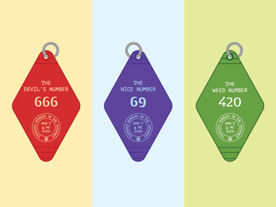Overused Numbers on the Internet nice dank keychain hotel vector illustration design