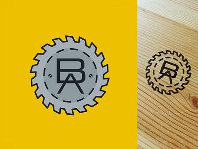 Dad's woodworking logo mark illustration vector stamp logo