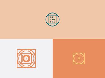 Belvidere development bolts symbol identity logo charleston