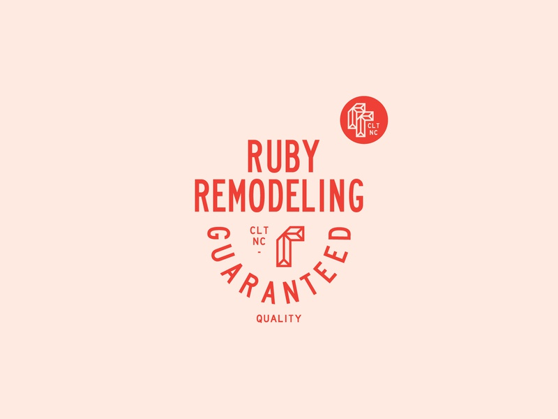 Ruby Remodeling identity charlotte construction remodeling ruby lockup graphicdesign logo