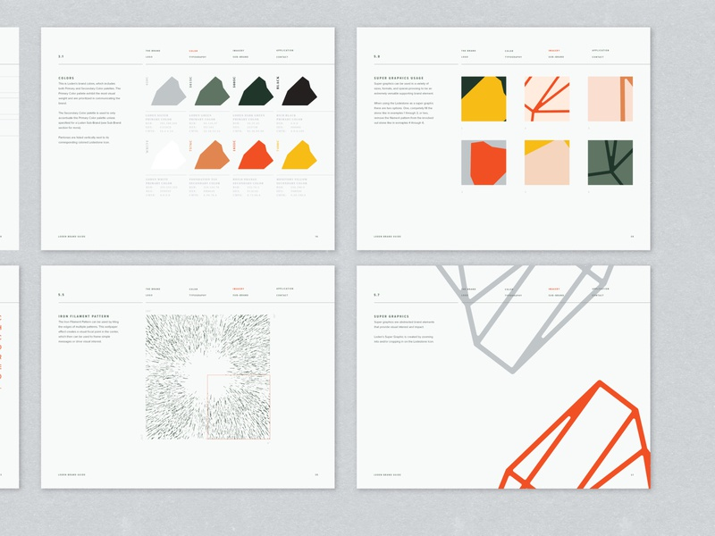 Loden Brand Guide development construction mineral magentism identity brand guide