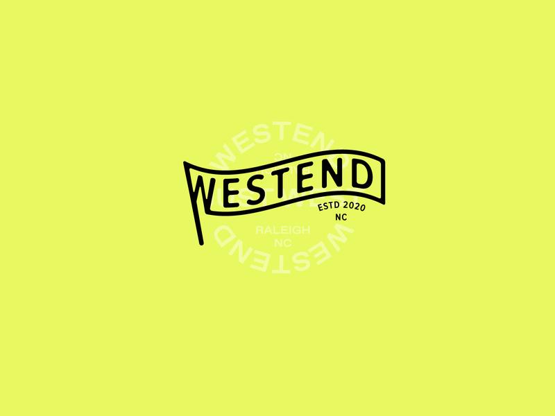 Westend flag identity wordmark raleigh mixed use development typogaphy