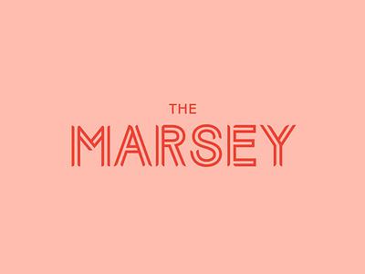 The Marsey apartments identity urban development lockup wordmark typography