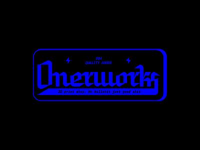 Onerworks 3D Print Mark wordmark custom type typography raleigh printing 3d printing rgb lockup identity