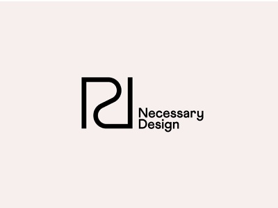 Necessary Design Logo logo north carolina raleigh branding identity logomark architect architecture