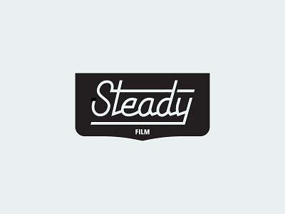 Steady Film Lockup north carolina raleigh identity custom type photography film motorcycle logo lockup logomark