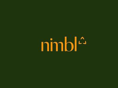 Nimbl Logomark mortgage home north carolina raleigh abstract wordmark identity logo real estate