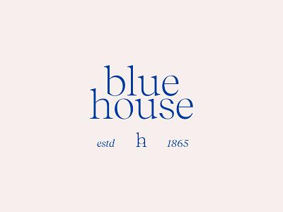 Blue House Logo Lockup development branding lockup raleigh north carolina identity logo