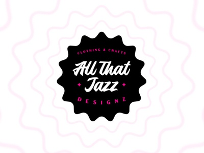 All That Jazz Logo crafts icon badge typography branding vector custom design logo