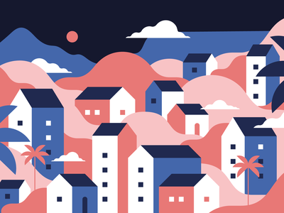 Hello from Cape Town vector illustration cape town first dribbble shot