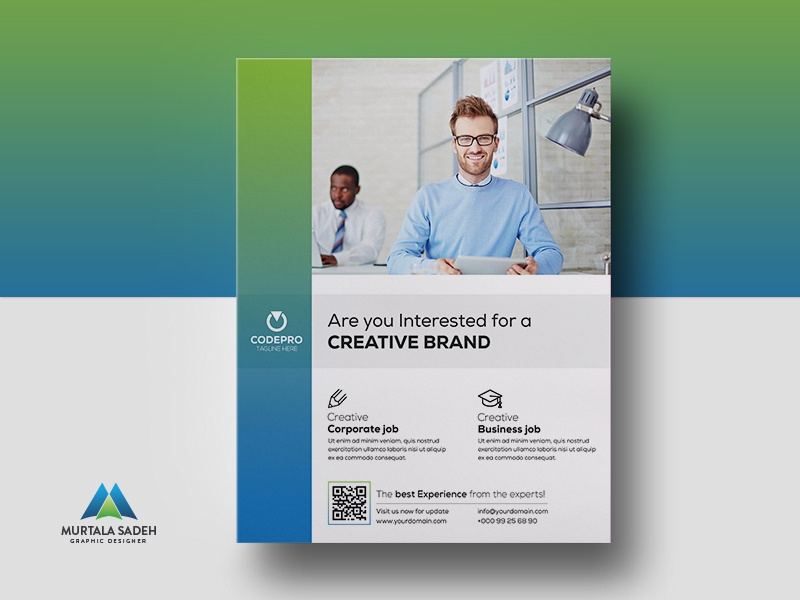 corporate flyer design by murtala sadeh dribbble dribbble
