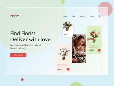 Flowy - Website application ui application app bouquet florist flowers webdesign website web branding mobile app