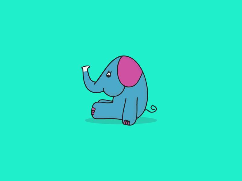 Elephant Logo funny child logo elephant