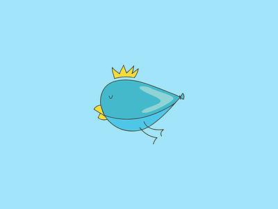 Balloon Bird Logo vector funny kid child balloon bird logo