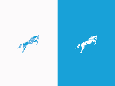 Horse logo business simple triangles logotype triangle logo horse horse logo