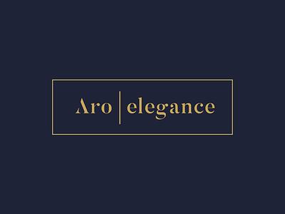 Aro Elegance logo elegant gold branding logotype simple logo modern simple royal deluxe premium elegance