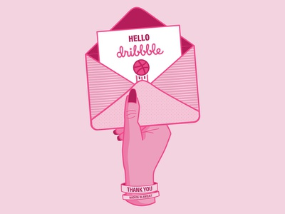Hello dribbble illustration thank you nails hands basketball debut dribble first shot